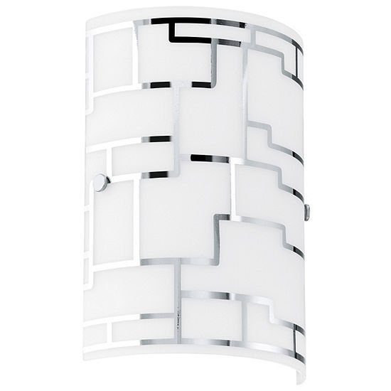 "Eglo Bayman 1-Light 7"" Chrome Wall Sconce Wall Light"
