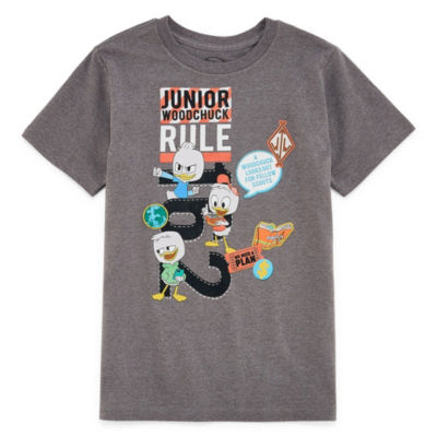 Disney Boys Round Neck Short Sleeve Duck Tales Graphic T-Shirt-Toddler