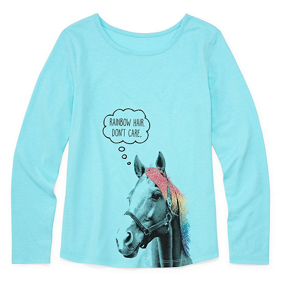 Arizona Girls Crew Neck Long Sleeve Graphic T-Shirt