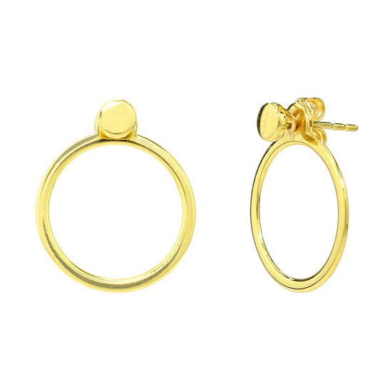 Sechic 14K Gold Round Earring Jackets