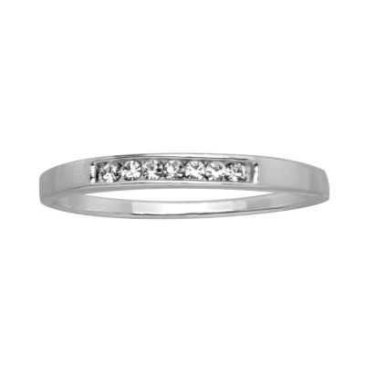 Itsy Bitsy Itsy Bitsy Womens Clear Sterling Silver Band