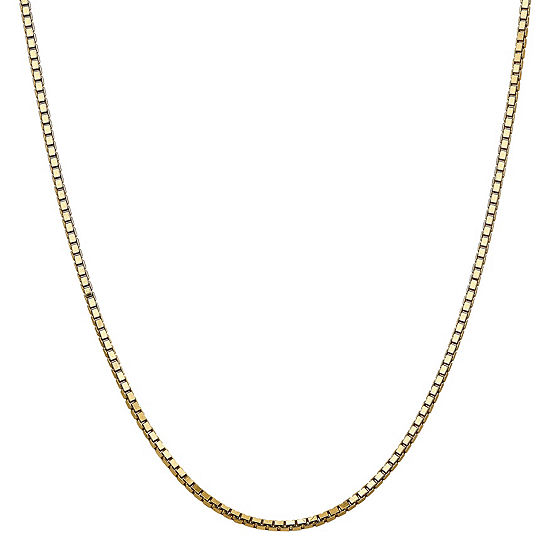 14K Gold 18 Inch Solid Box Chain Necklace