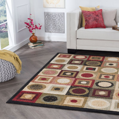 Tayse Ethan Contemporary Geometric Area Rug