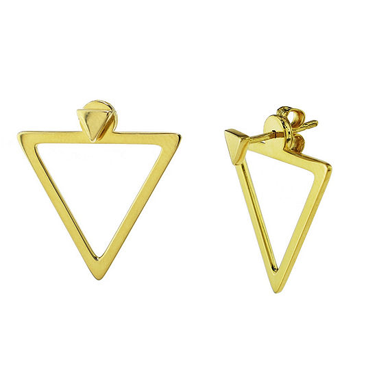 Sechic 14K Gold Triangle Earring Jackets