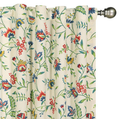Waverly Spring Bling Rod-Pocket Tailored Valance