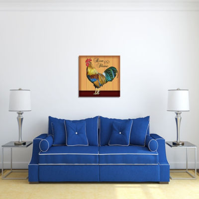 Motivational Wall Art Rise and Shine Wall Decor Panel
