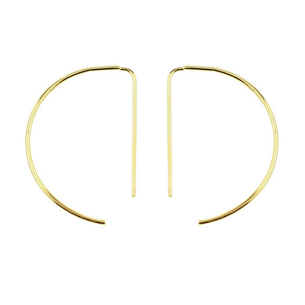 Sechic 14K Gold 19mm Hoop Earrings