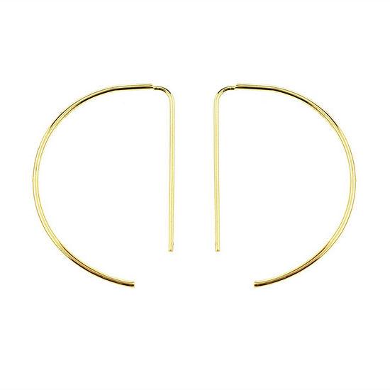 Sechic 14K Gold 19mm Hoop Earrings