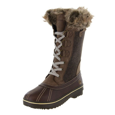 Northside Womens Bishop Winter Boots Lace Up Water Resistant Flat Heel Lace-up