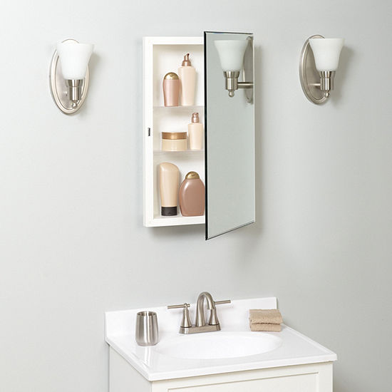Zenna Home Frameless Beveled Medicine Cabinet