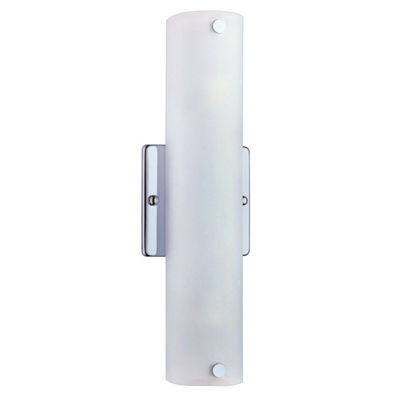 "Eglo Mono 2-Light 4"" Chrome Wall Light"""