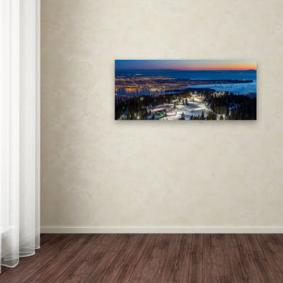 Trademark Fine Art Pierre Leclerc Vancouver from Grouse Giclee Canvas Art