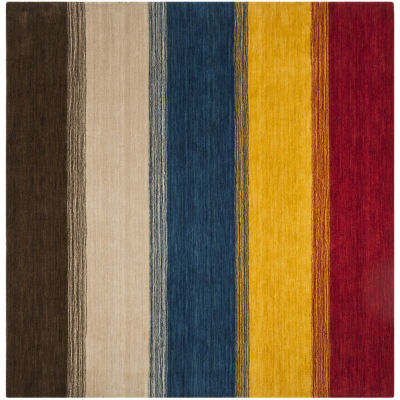 Safavieh Himalaya Collection Ilarion Striped Square Area Rug