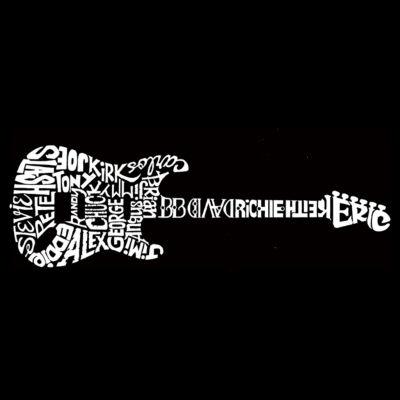 Los Angeles Pop Art Men's Tall and Long Word Art T-shirt - Rock Guitar