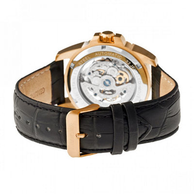 Heritor Armstrong Mens Black Strap Watch-Herhr3406