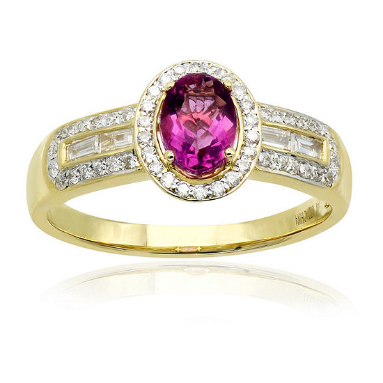 LIMITED QUANTITIES! Womens 3/8 CT. T.W. Genuine Pink Fluorite 14K Gold Cocktail Ring