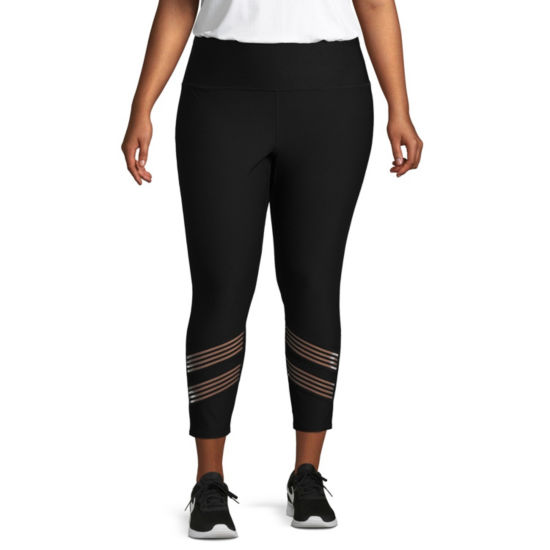 Xersion Mesh Performance Legging w/ Insets - Plus