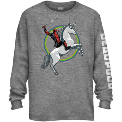 Deadpool Unicorn Long Sleeve Graphic Tee