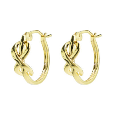 Sechic 14K Gold 13mm Hoop Earrings