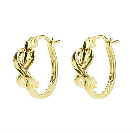 Sechic 14K Gold 13mm Hoop Earrings