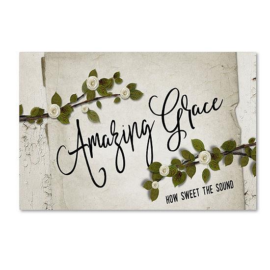 Trademark Fine Art Marcee Duggar Amazing Grace Floral Giclee Canvas Art