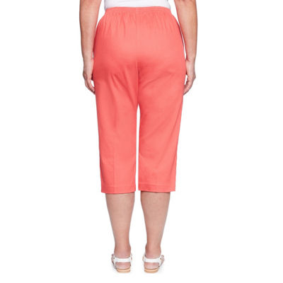 Alfred Dunner Parrot Cay High Waisted Capris