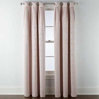 Liz Claiborne Zoe Leaf Blackout Grommet Inverted Pleat-Top Curtain Panel