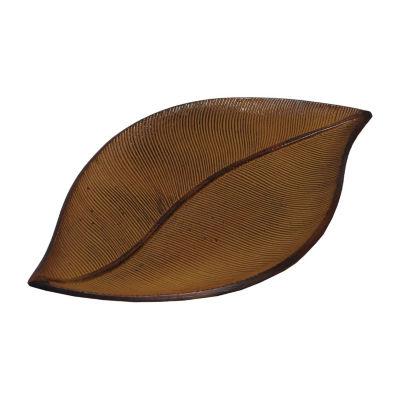 St. Croix Trading Kindwer Metal Palm Leaf Tray