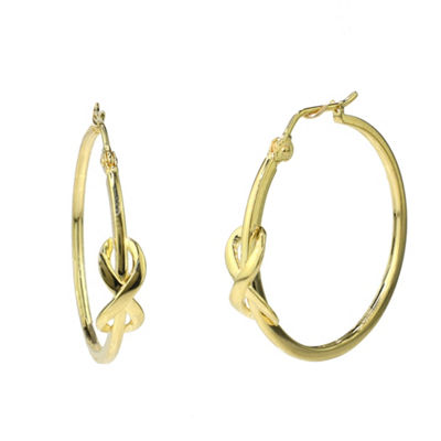 Sechic 14K Gold 25.1mm Hoop Earrings