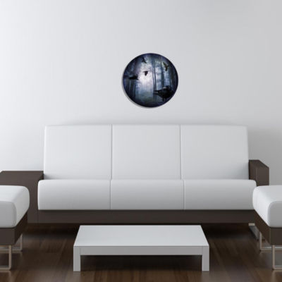 "Metal Wall Art Decor Mystical 24"" Round"""