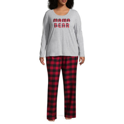 North Pole Trading Company Plaid Mama Bear 2 Piece Set -Women's Plus