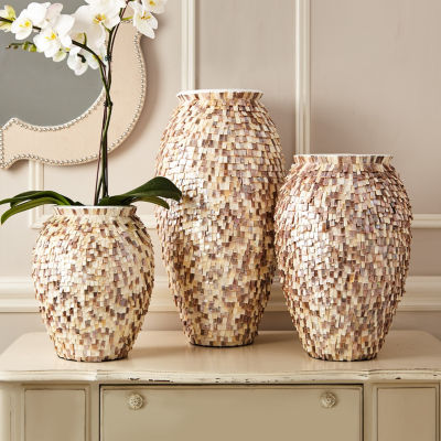 Two's Company Set Of 3 Mop Vases