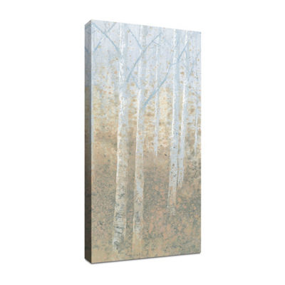 Silver Waters Panel III Canvas Art