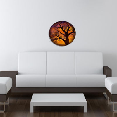 "Wall Art Decor Tree Autumnal 24"" Round"""