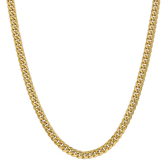 14K Gold 26 Inch Semisolid Curb Chain Necklace