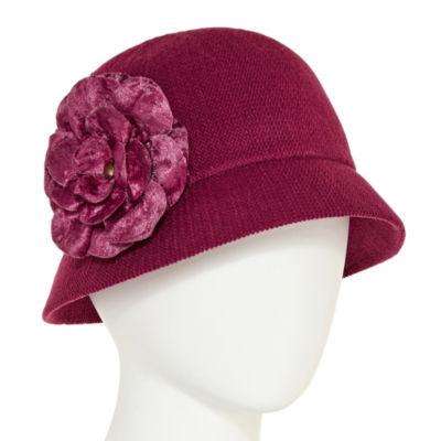 August Hat Co. Inc. Velvet Flower Cloche Hat