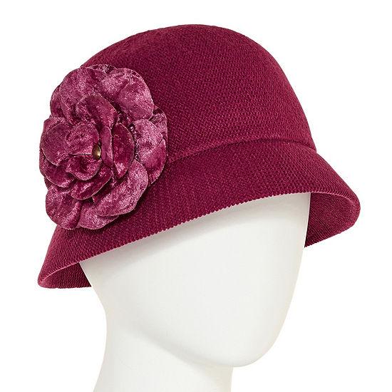 070fb8e8f5c40 August Hat Co. Inc. Velvet Flower Cloche Hat - JCPenney