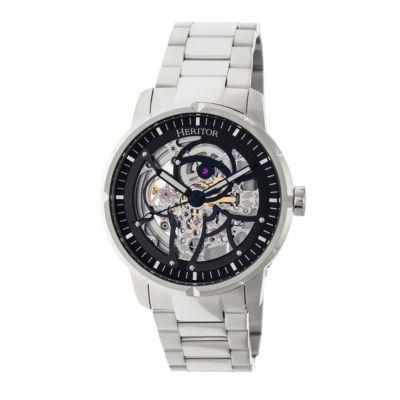 Heritor Ryder Mens Silver Tone Bracelet Watch-Herhr4608