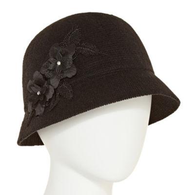 August Hat Co. Inc. Flower Applique Cloche Hat