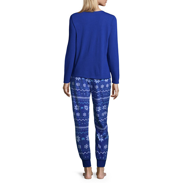 North Pole Trading Co. Womens Pant Pajama Set 2-pc. Long Sleeve Family