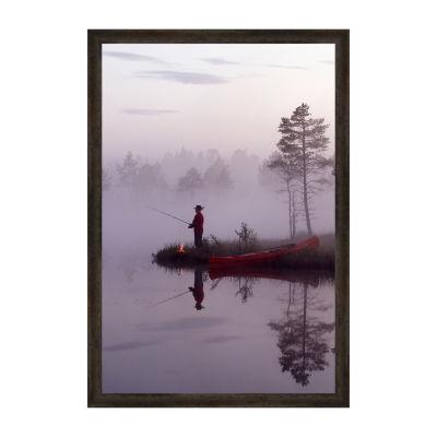 Silent Angling Framed Print