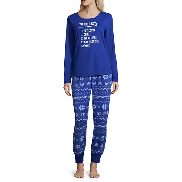 9f4c3165896f North Pole Trading Co. Womens Pant Pajama Set 2-pc. Long Sleeve Family