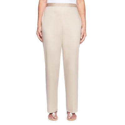 Alfred Dunner Scottsdale Womens High Waisted Straight Pull-On Pants