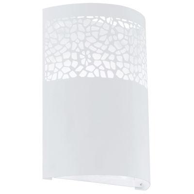 """Eglo Carmelia 1-Light 7"""" White Wall Sconce Wall Light"""""""