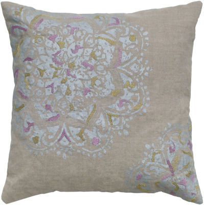 Rizzy Home Spike Medallion Decorative Pillow