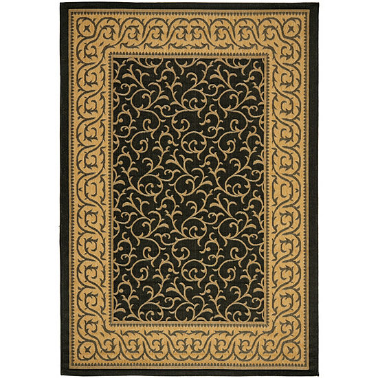 Safavieh Courtyard Collection Kiana Oriental Indoor/Outdoor Area Rug