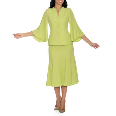 Giovanna Signature Women's Bell Sleeve 2-pc Skirt Suit - Plus