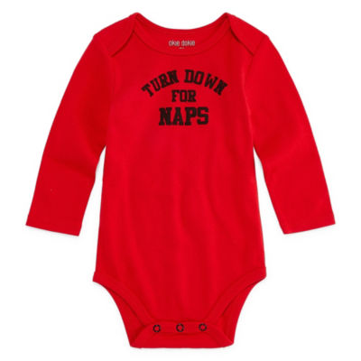 "Okie Dokie ""Turn Down for Naps"" Long Sleeve Slogan Bodysuit - Baby NB-24M"