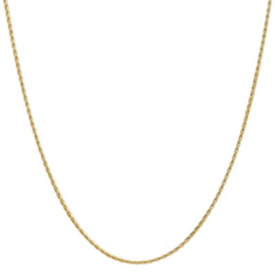14K Gold Solid Wheat 16-24 Inch Chain Necklace