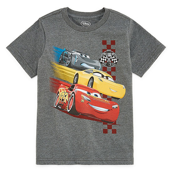 Disney Boys Round Neck Short Sleeve Cars Graphic T-Shirt - Preschool / Big Kid